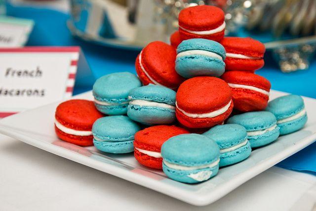 Macarons with Koolaid as the dye