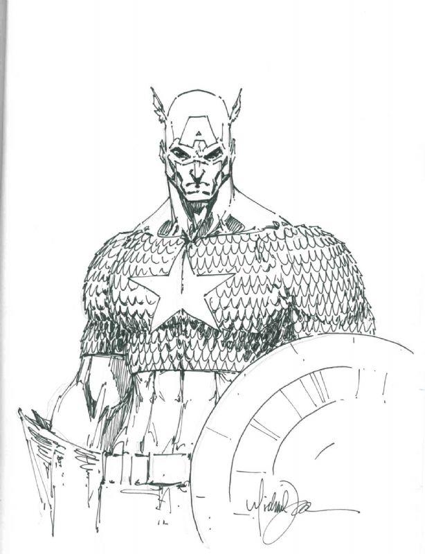 Michael Turner Captain America Comic Art