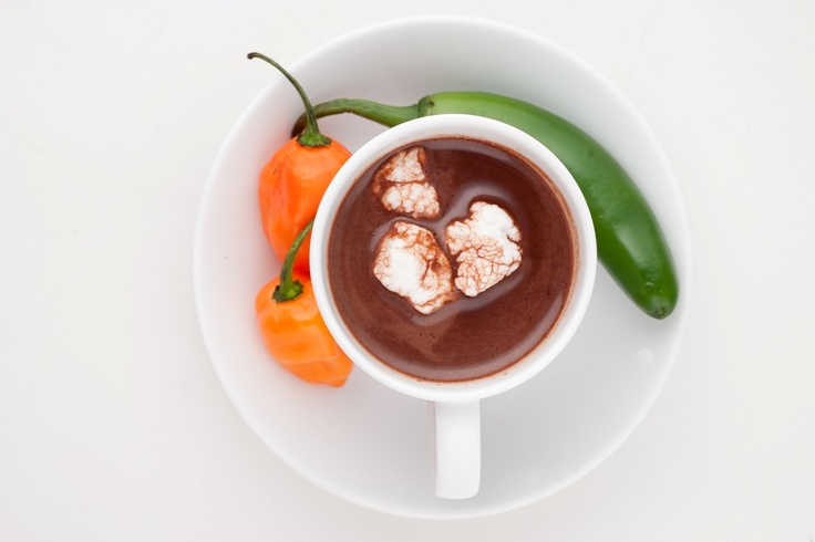 Cayenne Hot Chocolate - Influenced by the Aztecs' original hot chocolate recipe: Hot Chocolates Recipes, Cayenne Hot, Hot Chocolate Recipes, Hot Cacao, Originals Hot