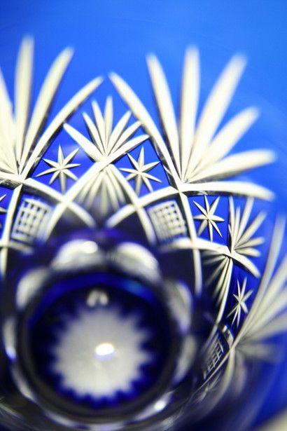Japanese Edo Kiriko glass - Edo Kiriko is a Japanese traditional glassware and its origin dates back to 1834 in the Edo period, used emery powder to produce glassware engraved with patterns.