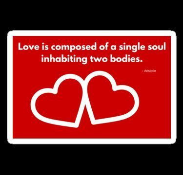 Love is composed of a single soul inhabiting two bodies.  @RedBubble @RedBubbleCreate #RedBubble #RedBubbleCreate #Redbubbleartist  #motivation #optimistic #inspiration #love #positive #cool  #success  #words  #quote #text  #affirmations #empowerment #wisdom #shopping #gift #happiness #passion #creative #bohemian #style #confident #motivational #inspirational #hearts #romantic  #sticker / #card > http://ift.tt/2etNuHd