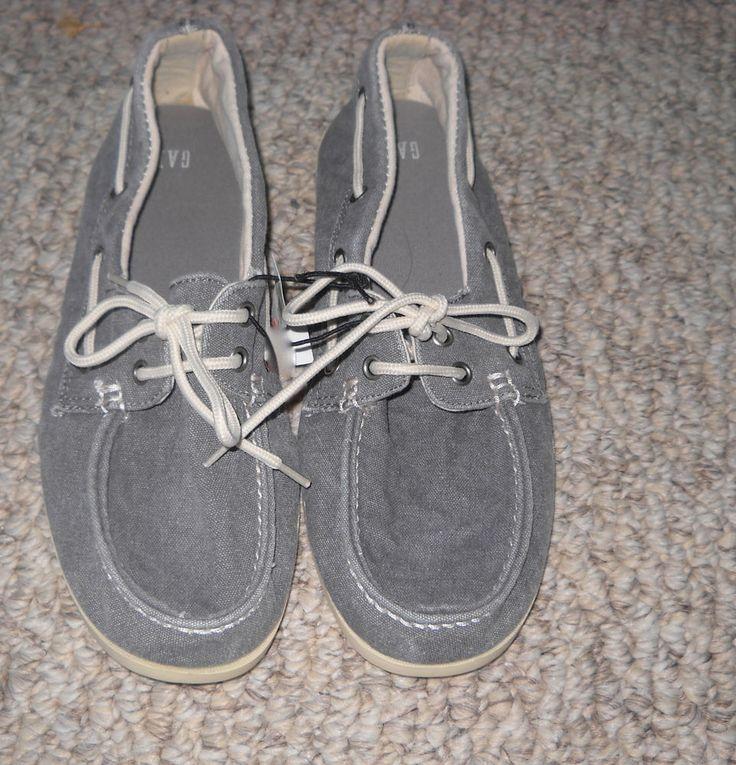 gap s causal boat shoe gray sz 9 34 99 nwob