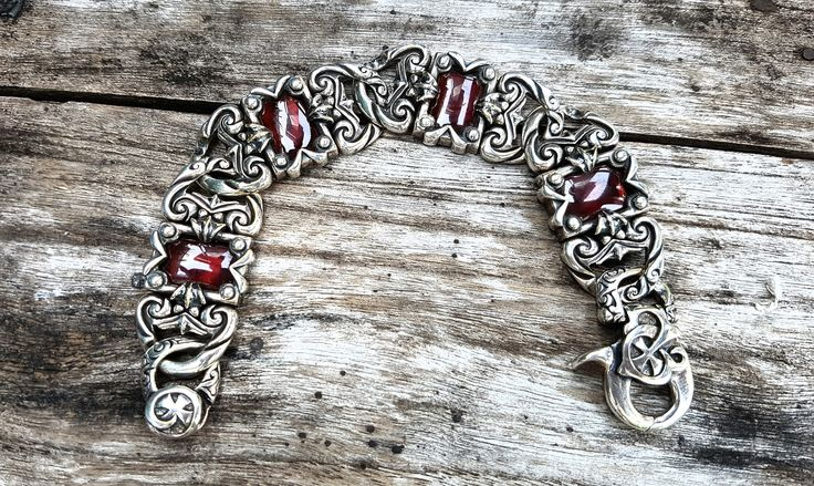 Beautiful Silver Bracelet in Garnet by Onyx Jewelry Boutique