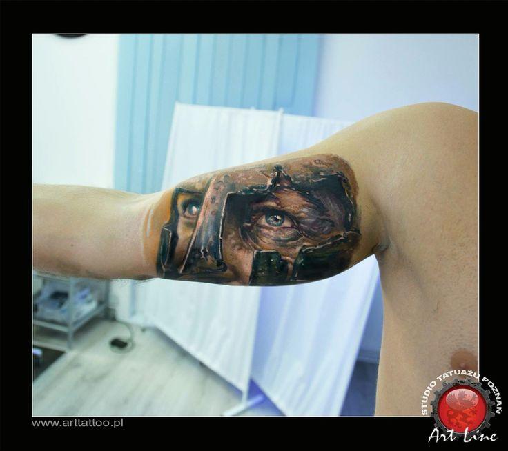 300 Sparta Tattoo.  Artist Dominik Szymkowiak. Artline studio. www.arttattoo.pl