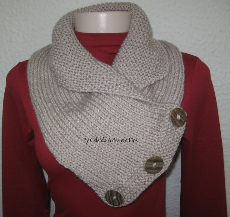 Celeida Ribeiro: Gola de tricô
