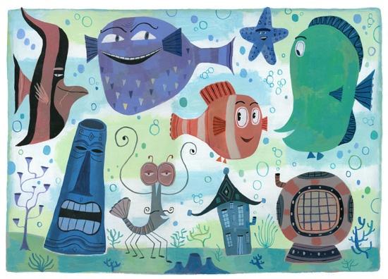 Nemo and the Tank Gang by Calef Brown: Tank Gang, Illustration, Disney Art, Disney Pixar, Pixar Art, Disney Nemo Lr2, Tanks