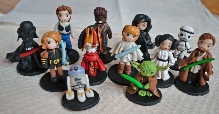 Characters from Star Wars Saga *-*  i created them using polymer clay