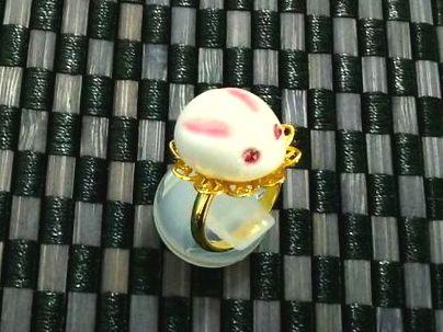 アリスの庭亭/Alice Garden 和菓子・雪うさぎ・指輪 3,000円