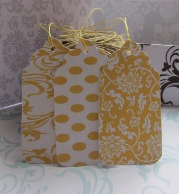 Printable Gift Tags 30  Co-ordinating set of 30 - Yellow available exclusively from http://www.zibbet.com/Printables