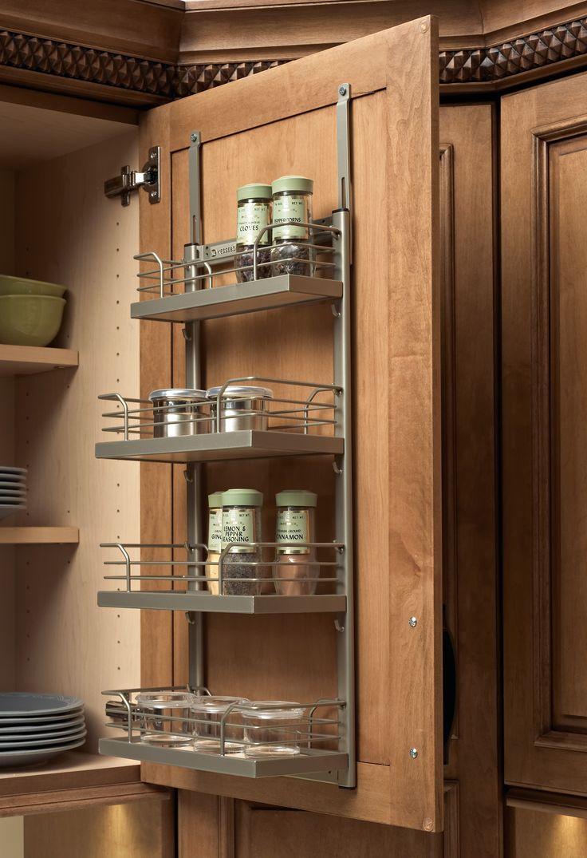 22 best kitchen storage images on pinterest kitchen storage masculine door mount spice racks for kitchen cabinets