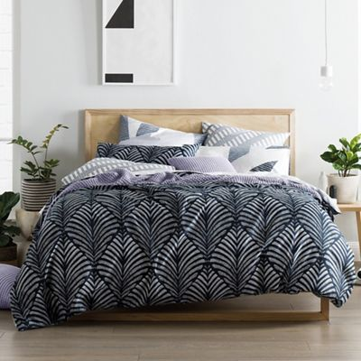 Sheridan Navy 220 thread count 'Zofia' duvet cover | Debenhams