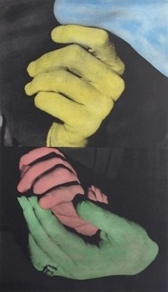 John Baldessari, Hand and Chin (with Entwined Hands) on ArtStack #john-baldessari #art