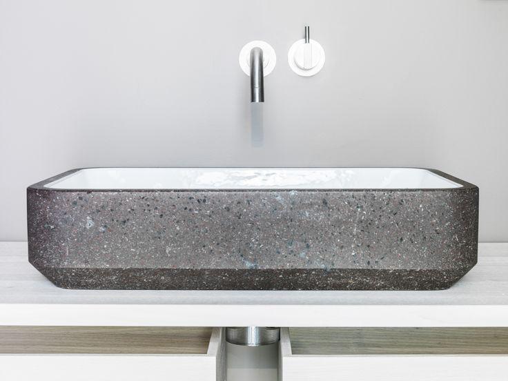 Sink in lavastone.