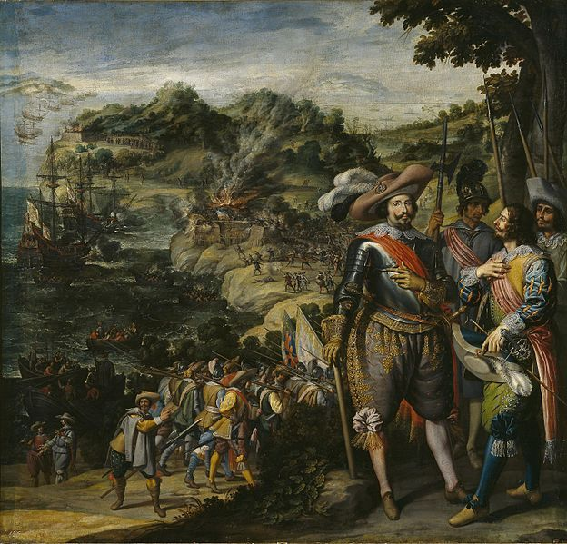 1629.Recuperación de la Isla de San Cristóbal Lienzo. 297x311cm.1634. Museo del Prado.Felix Castello (1595- 1651)The Battle of St. Kitts or St. Cristopher was a successful Spanish expedition that seized the islands of Saint Kitts and Nevis from the English and French during the Anglo-Spanish War (1625-30).