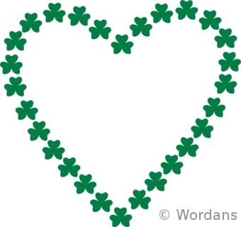 St Patrick's Day shamrock heart