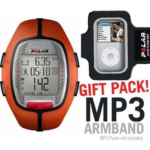 Polar RS300XOG Heart Rate Monitor Orange with MP3 Armband by Polar. $119.96. Get all the essential heart rate features with this good looking and simple to use training computer RS X is compatible with S foot pod and G GPS sensor so you can combine heart rate with speed and distance Only then you can truly make sense of your training and be sure it s worth all the effort FREE MP Armband with the Purchase