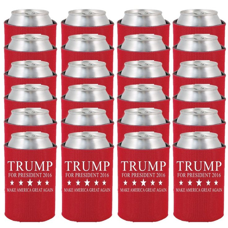 Shop4Ever Trump for President 2016 Can Coolie Make American Great Again Drink Coolers Coolies Red - 24 Pack