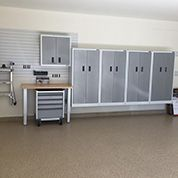 White Gladiator Cabinet system - Get Organized!