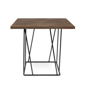 Konferenční stolek Helix 50 cm, hnědá deska + černá podnož