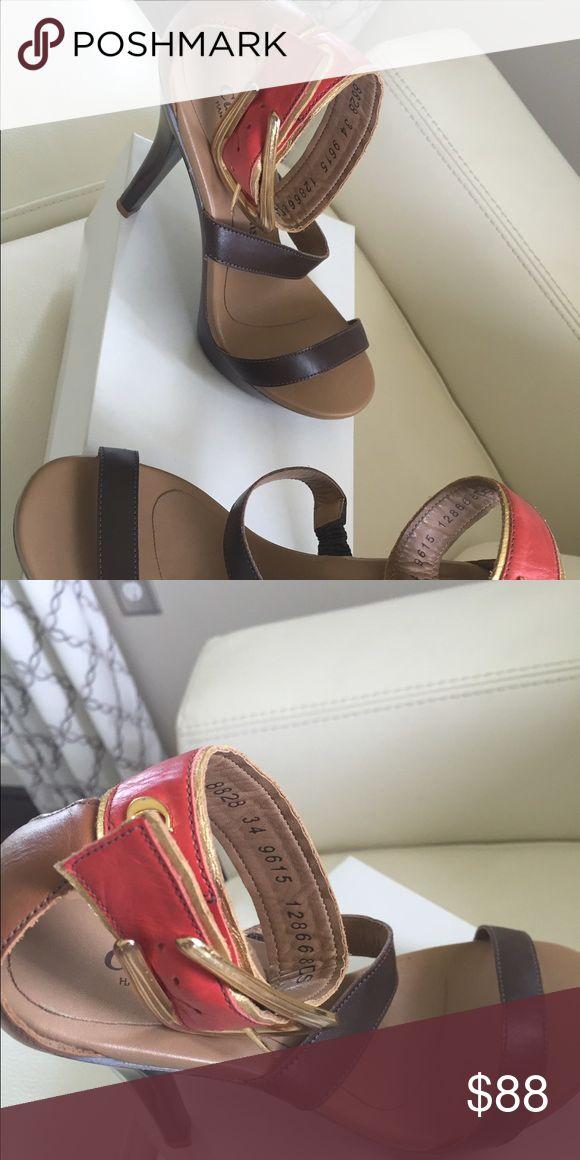 CARMEN STEFFENS Strappy High Heel Pumps Carmen Steffens Strappy High Heel with ankle strap, Size 5 Carmen Steffens Shoes Heels