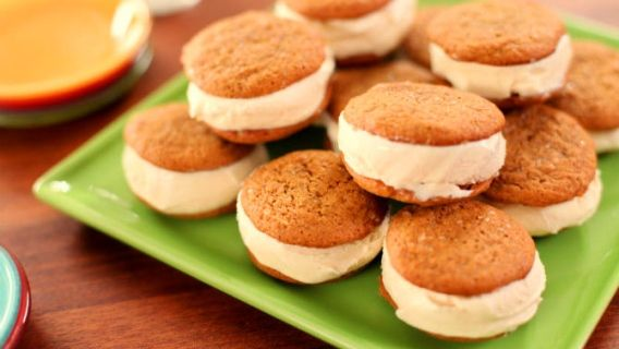Sandwichs à la crème glacée avec biscuits à la mélasse