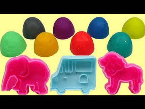 Play Doh Sparkle Balls Elephant Ice Cream Animal Superhero Finger Family Song Mickey Mouse Clubhouse