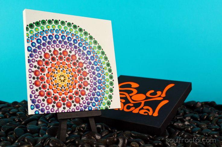 #Mandala ✿ Nuestras creaciones son piezas llenas de #Luz, #Amor y Color, cargadas de Energía Positiva.... + Info en web: https://soulfractal.com/categoria-producto/puntillismo/ ❥ Regala (te) y Disfruta de detalles con Significado☯ ¿Hay un símbolo o dibujo que deseas, y no lo encuentras? Elije dibujo, tamaños, colores, etc. ღ Ponte en contacto con nosotr@s ツ, todo lo que te apetezca o se te ocurra....te lo hacemos❣❣