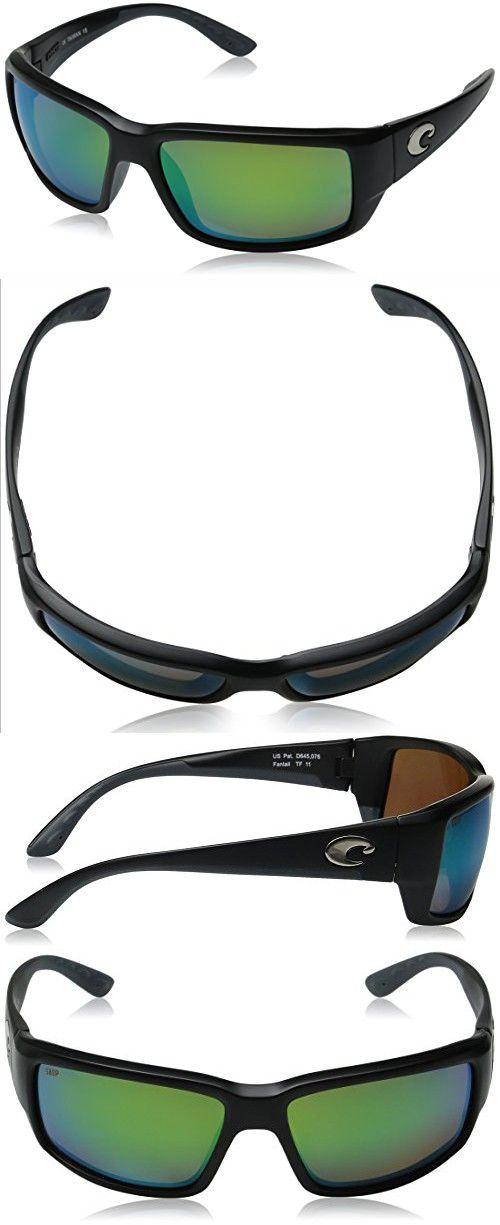 c7e2797dbe8 Costa Del Mar Sunglasses - Fantail- Plastic   Frame  Black Lens  Polarized  Green