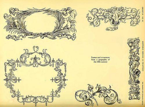 15b marcos y adornos para una geografia del siglo xviii for Adornos para paginas