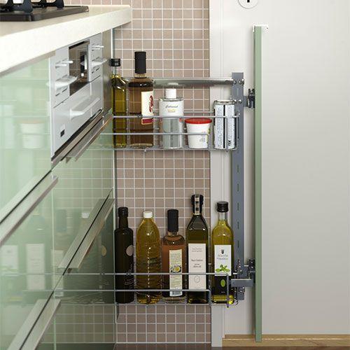 Amnagement de tiroir de cuisine une cuisine de style avec for Accessoires cuisine ikea