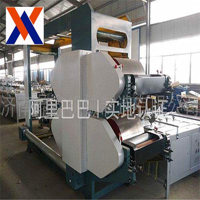 Cement block making machine with pp bag making machine printing machine