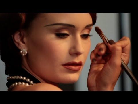 Vintage Makeup Tutorial - Classic 1930's Look - Part1...trying to do this successfully to my eyebrows is very intimidating...
