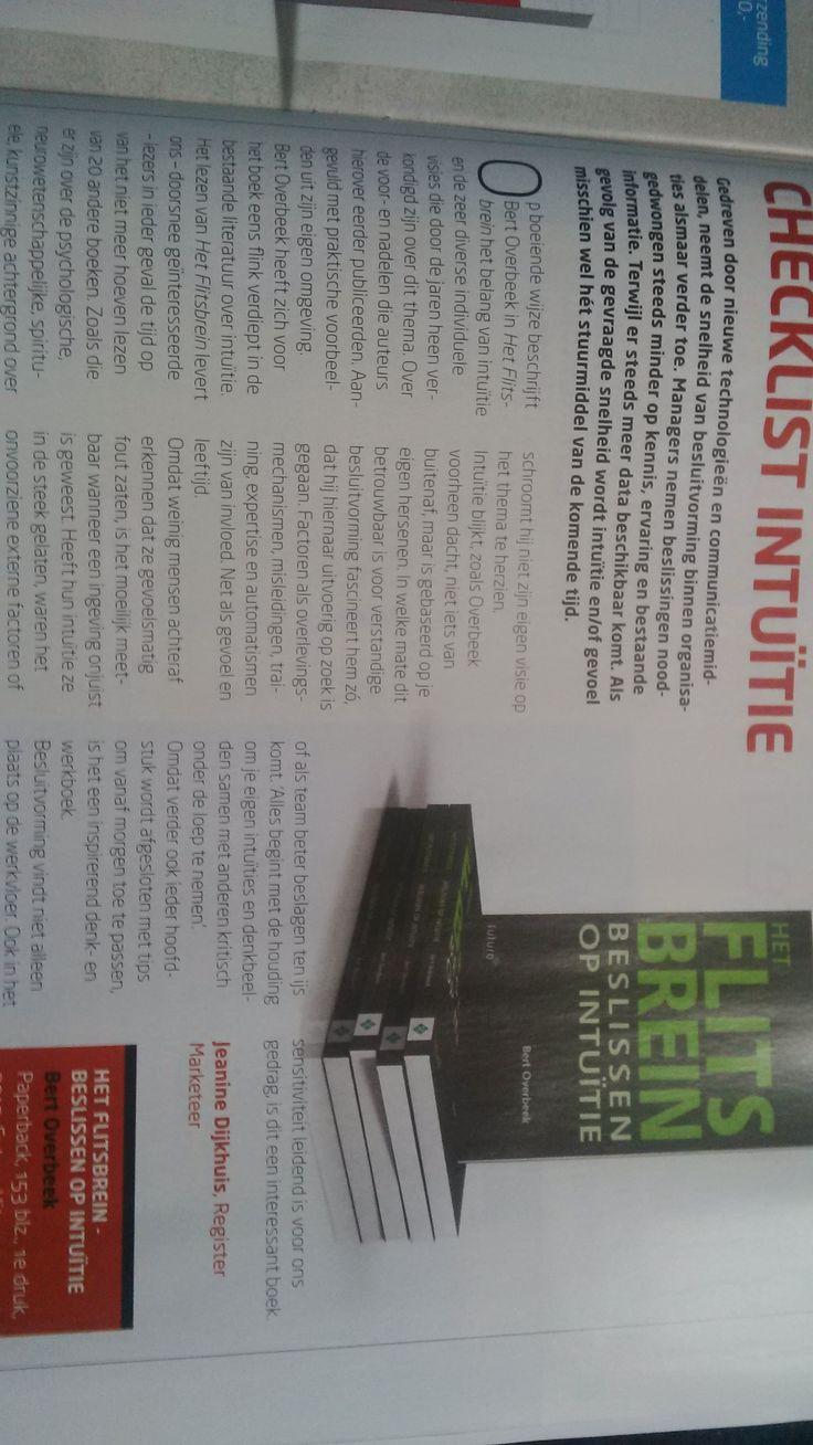 Mooie recensie in septembernummer van Managementboek Magazine. #hetflitsbrein #bertoverbeek #futurouitgevers