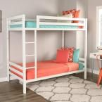 Bentley Twin Over Twin Metal Bunk Bed, White