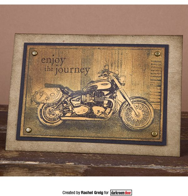 Card by Rachel Greig using Darkroom Door Motorcycle Photo Stamp