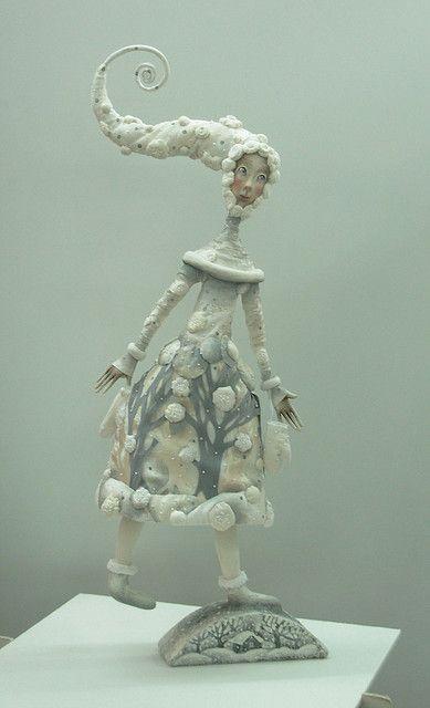 art dollDolls Sculpture Art, Winter Art, Amazing Art, Winter Dolls, Anna Zueva, Dolls Art, Art Dolls Bjd, Artdolls, Photos Shared