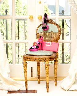Pink and Gold.: Shoes, Pink Pink Pink, Rose Gardens, Girls Dreams Closet, French Doors, Pretty Things, Rogers Vivier, Bridal Shower, Interesting Ideas