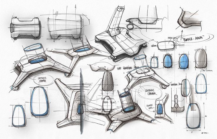 Mixed-media industrial design sketching