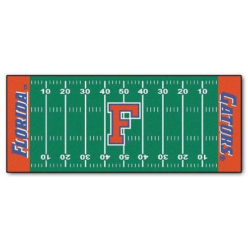 "Florida Gators Football Field Runner Area Rug Floor Mat - 30"" X 72"""