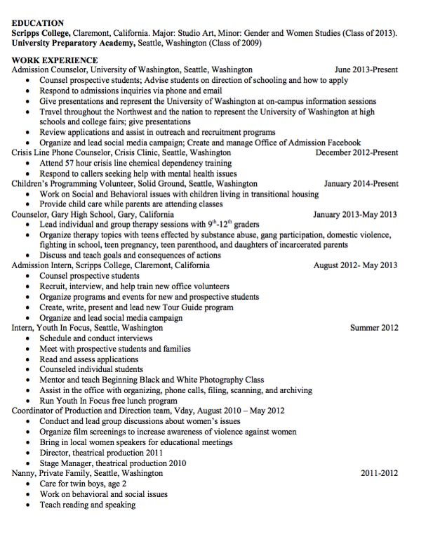 Sample Nanny Resume Httpexampleresumecvorgsample Nanny