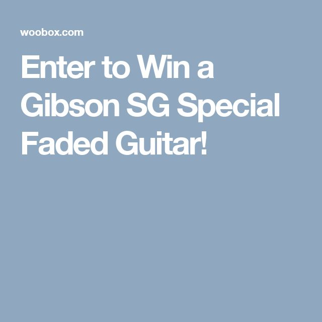 Enter to Win a Gibson SG Special Faded Guitar!