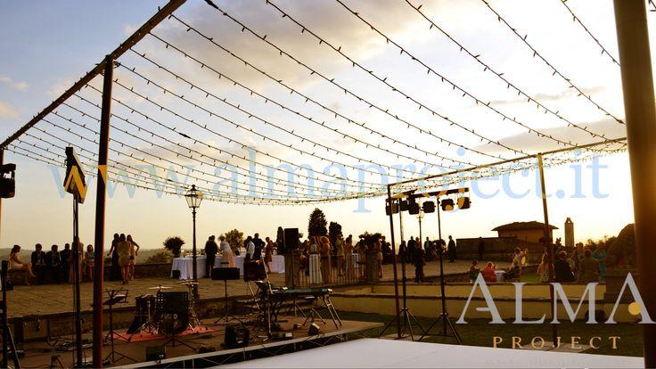 ALMA Project @ Villa di Maiano - Fairy Lights - Dancefloor (White) - Starry ceiling Sunset