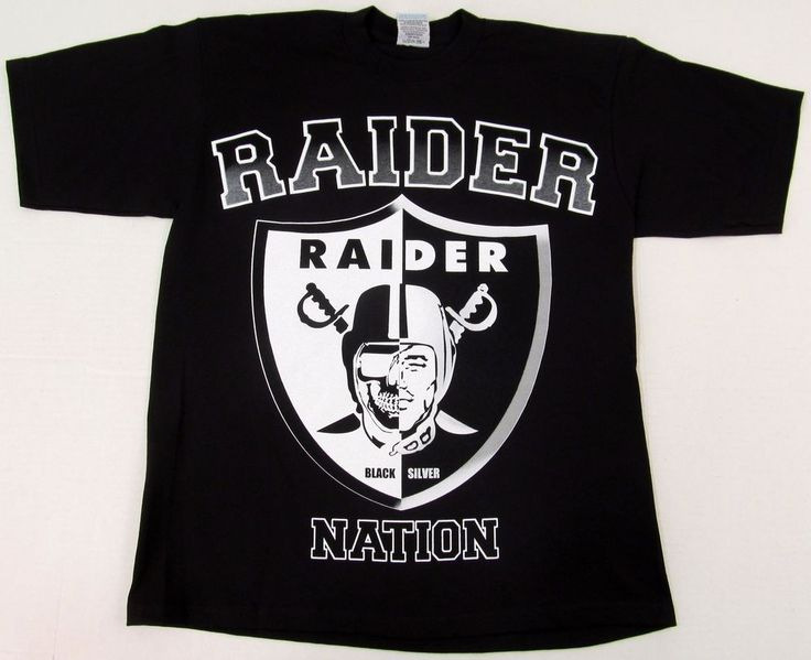 RAIDERS T-shirt Oakland LA Raider Nation Black Silver Tee Adult L-4XL New | Clothing, Shoes & Accessories, Men's Clothing, T-Shirts | eBay!