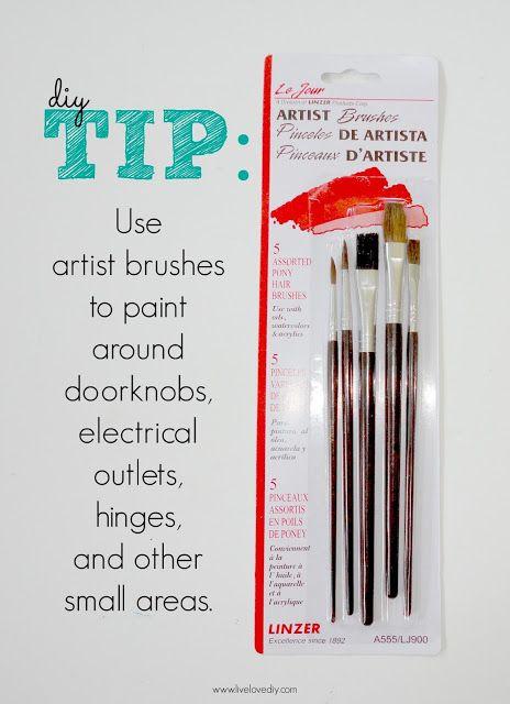 10 paint secrets use artist brushes to paint around doorknobs. Black Bedroom Furniture Sets. Home Design Ideas