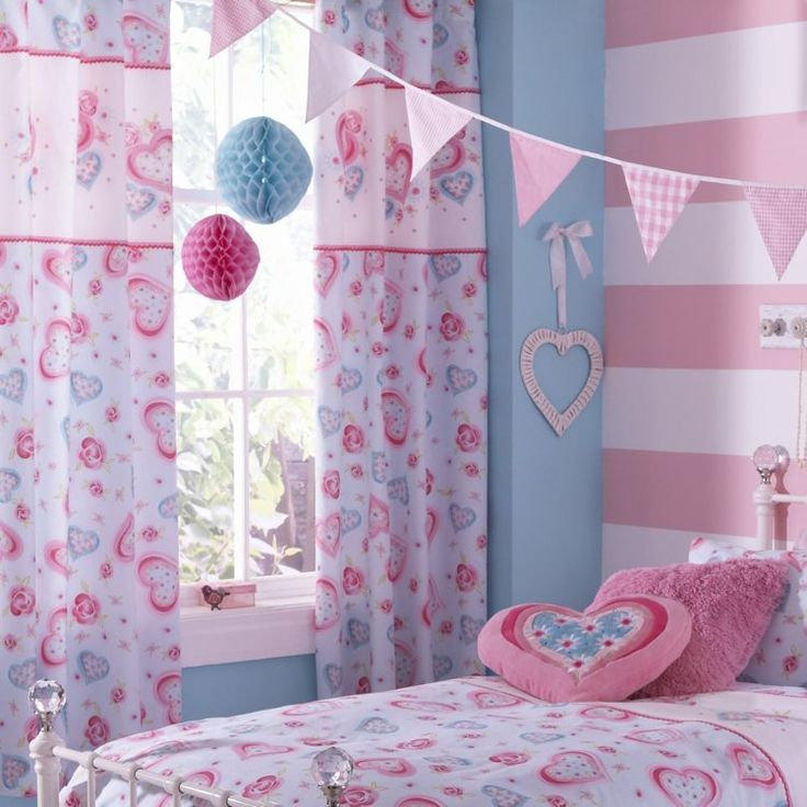 58 best images about kids room decor on pinterest for Curtain designs for girls bedroom