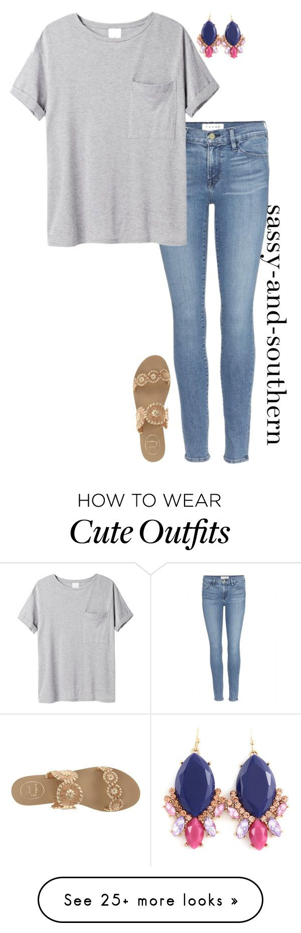 """""""cute school outfit"""" by sassy-and-southern on Polyvore featuring Frame Denim, AR… – Styles I Like"""