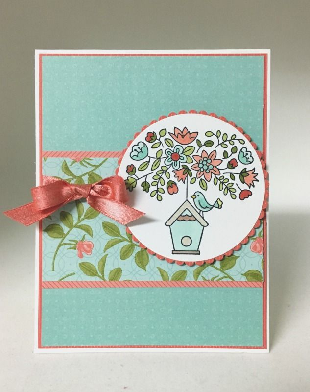 Flying Home stamp set from the 2018 Occasions catalog with the Petal Garden DSP
