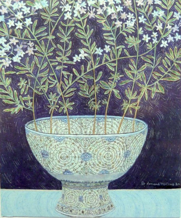 Leonard McComb RA's JASMINE FLOWERS PROVENCE, TURKISH BOWL V&A at the RA Summer Exhibition 2015