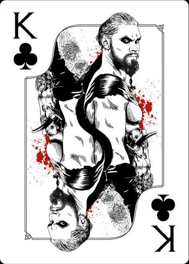 Playing Cards - King Of Clubs, Khal Drogo, Game Of Thrones Playing Cards by Paul Nojima, Time Void - playingcards, playingcardsart, playingcardsforsale, playingcardswithfriends, playingcardswiththefamily, playingcardswithfamily, playingcardsgame, playingcardscollection, playingcardstorage, playingcardset, playingcardsfreak, playingcardsproject, cardscollectors, cardscollector, playing_cards, playingcard, design, illustration, cardgame, game, cards, cardist
