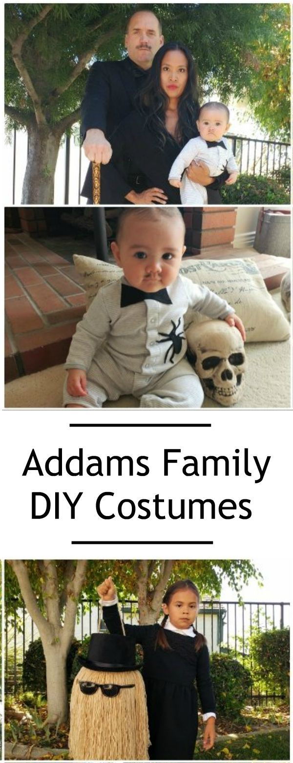 Craft Tutorials for DIY Addams Family Halloween Costumes